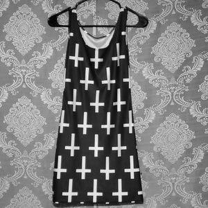 St. Peters cross printed tank top spandex dress